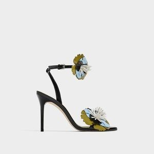 Zara flower detail sandals